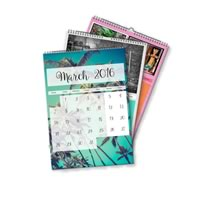 3 x A4 Portrait Personalised Calendar incl Delivery