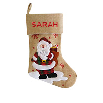 Modern Christmas Stocking - Santa incl Delivery