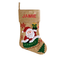 Modern Christmas Stocking - Santa Sled incl Delivery