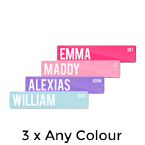 3 x Premium Metal Street Sign 10x45cm (Any Colour) incl Delivery