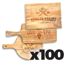 Medium Cutting Board x 100 @ $30.00 each incl Delivery
