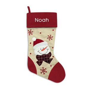 Christmas Stocking<br>Red Snowman