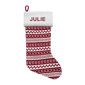 Christmas Stocking<br>Red Pattern